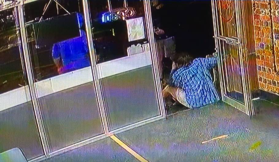 A screenshot of the CCTV footage of the attack.