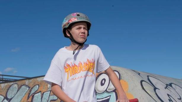 Ethan Wright's accident happened when he wasn't wearing his helmet. Photo: Louise Kennerley