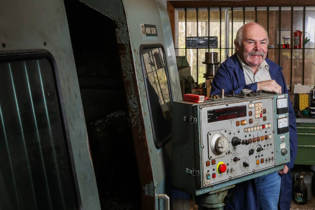INVENTOR: Tony Roberts is expanding a car part he built in the 1980s with federal grants that will help further the technology and sell it globally. Picture: Morgan Hancock