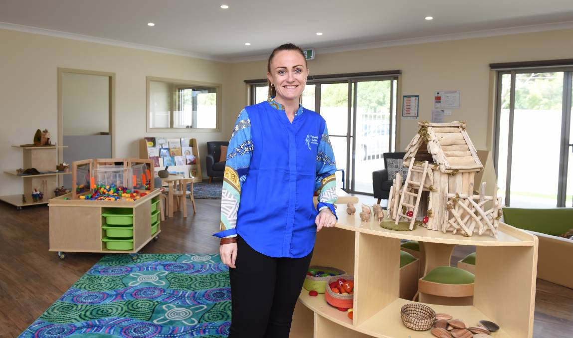 OPEN: BADAC's Casey Brown is ready for children to explore the new Indigenous playgroup room. Picture: Kate Healy