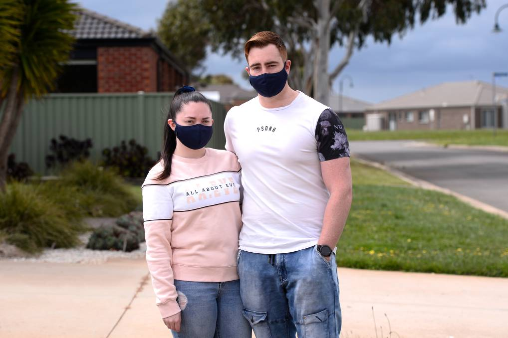 WEDDING PREPARATION: Shae Lavery and Jake Andison feel wedding have been overlooked in government changes as they focus on doing the right thing. Picture: Adam Trafford