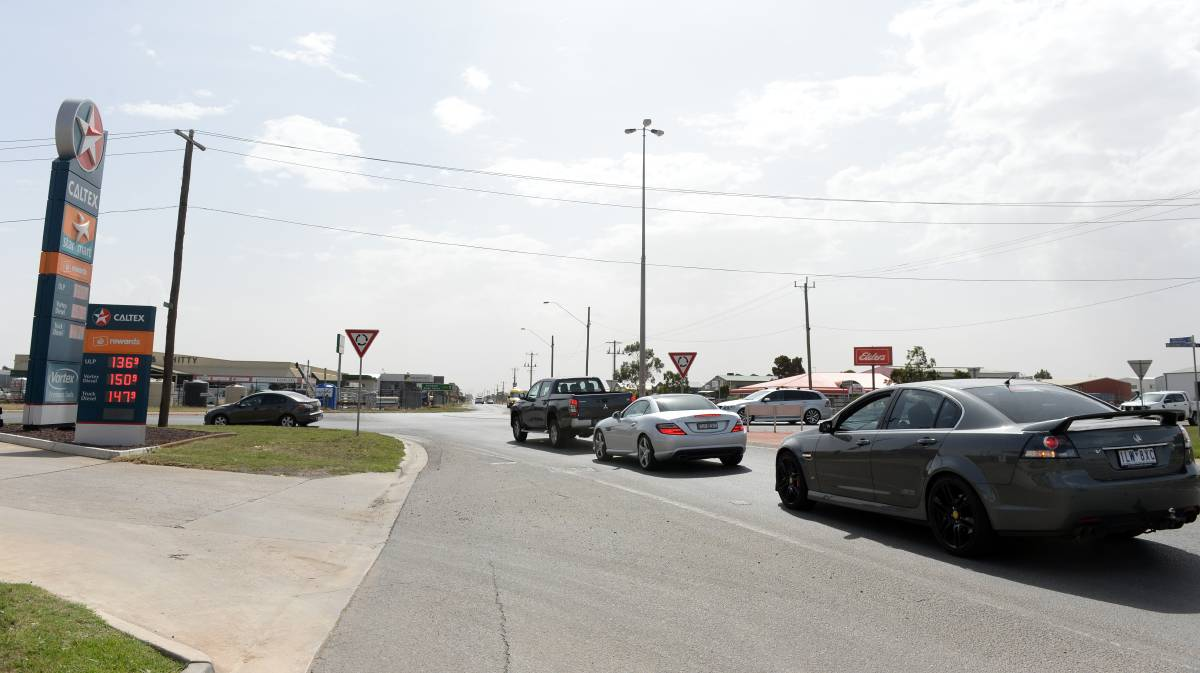 Congested traffic at the Latrobe Street intersection on Wiltshire Lane could be a thing of the past when traffic lights are installed. Picture: Kate Healy