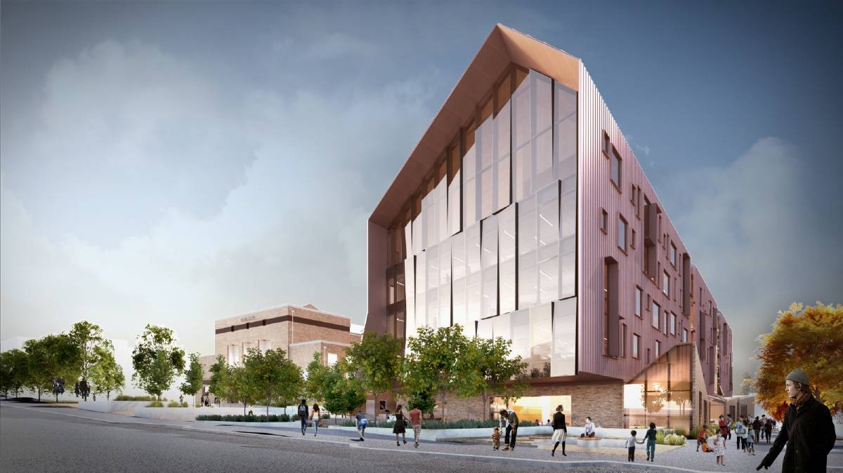 An artist impression of what the new GovHub building will look like