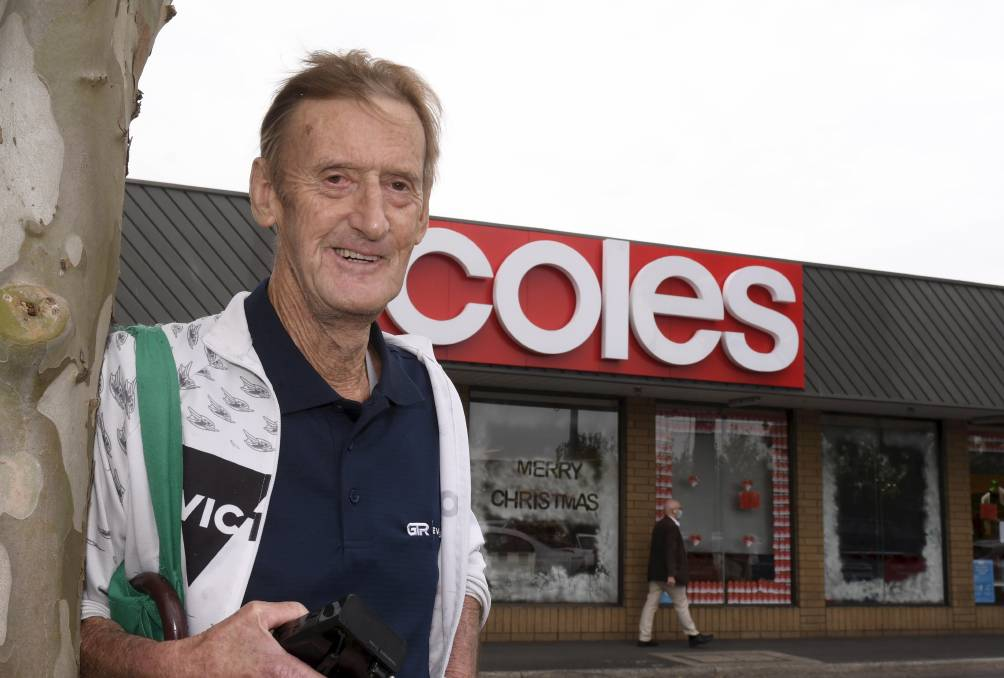 Pete Baguley was shocked on Monday morning when he went to pay for his groceries at Coles only to discover a woman in the next aisle had paid them for him. He hopes to find her to say thanks. Picture: Lachlan Bence