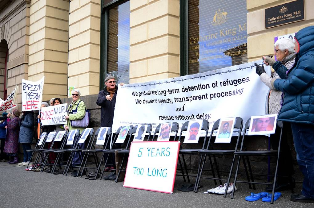 POWERFUL: 12 empty chairs representing people who have died in offshore detention since 2013. Picture: supplied