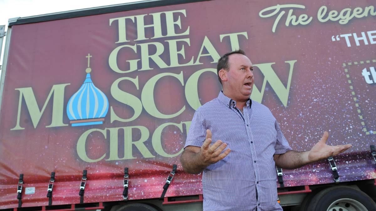 General manager Shane Lennon said contractors, staff and performers had been left stranded by the liquidation of the Great Moscow Circus. Picture: Lachlan Bence.