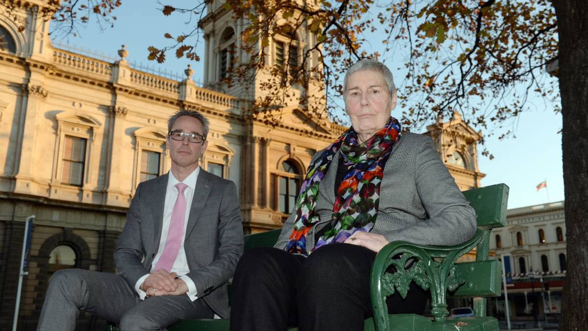 Mayor Cr Ben Taylor and CEO Janet Dore on the day of Ms Dore's appointment in June. Picture: Kate Healy