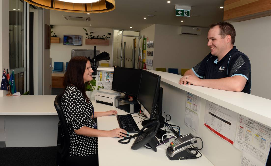 Alithea Harris (Customer Service Officer)Ballarat Community Health opening a new clinic in Howitt St, Wendouree - with GP and allied health including podiatry, counselling, dietetics.Walk through before official opening on Friday.