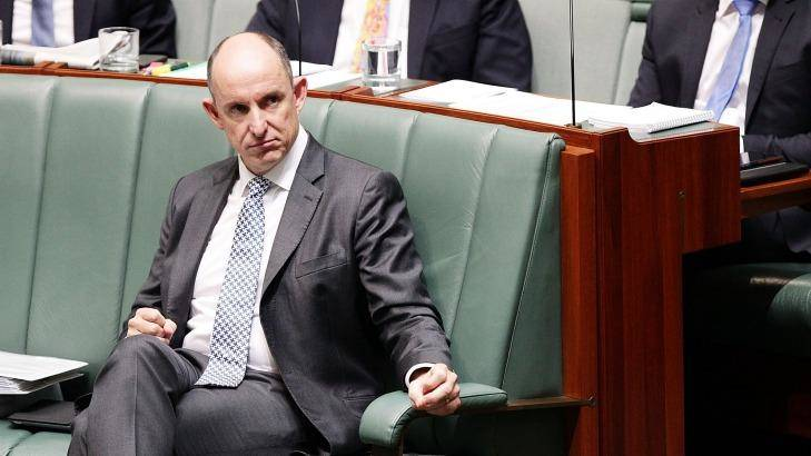Questions over donations: Turnbull MP Stuart Robert in the House of Representatives. Photo: Stefan Postles