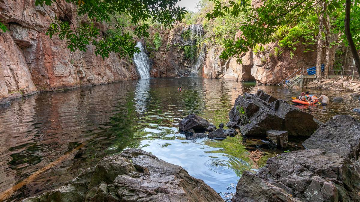A popular waterhole for swimming at Litchfield National Park is Florence Falls. Picture: Michael Turtle
